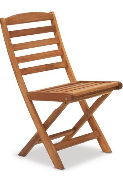 Tekzen Home Eternal Garden FW333130 Akasya Boston Katlanır Kolsuz Sandalye