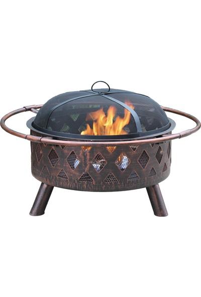 Polingarden Antik Görünümlü Bahçe Şöminesi + Pişirme Izgaralı Çap 76CM
