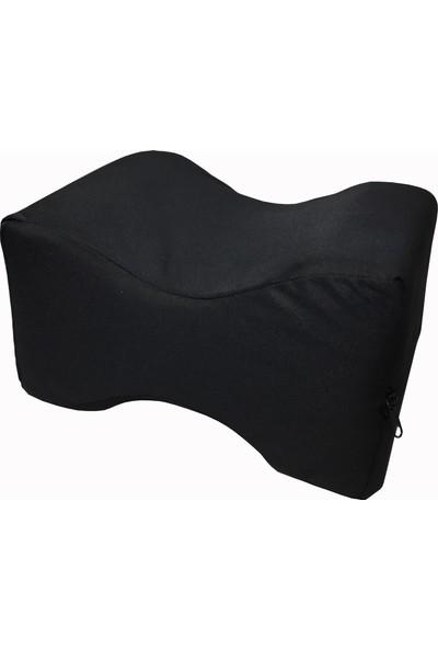 Soft Visco Elastik Bacak Arası Pozisyon Yastığı Minderi Siyah