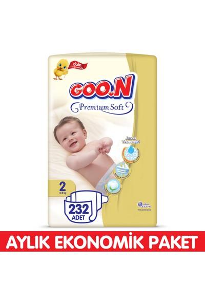 Goon Premium Soft Bebek Bezi 2 Beden Aylık Ekonomik Paket 232 Adet