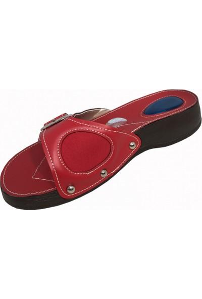 Style Comfort Halluks(Kemik Çıkıntısı) ve Jelli Topuk Dikeni Terliği Günlük Kadın Terlik Kırmızı