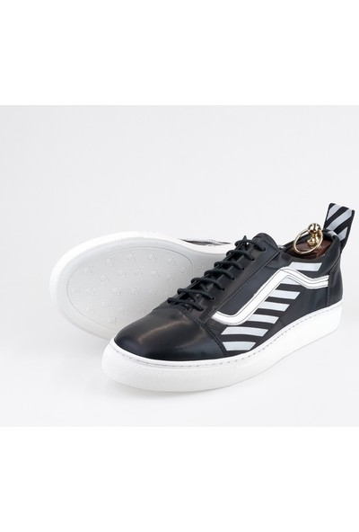 Silvio Massimo Deri Erkek Ayakkabı - Olite - Siyah