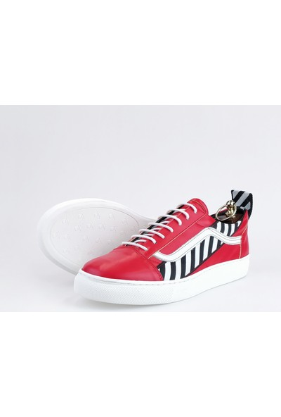 Silvio Massimo Deri Erkek Ayakkabı - Olite - Kırmızı
