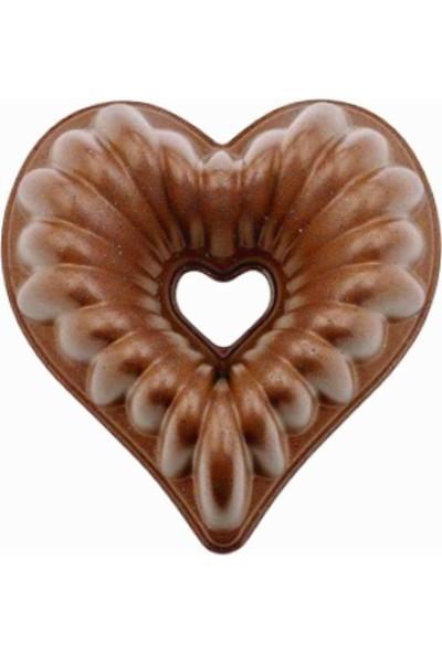 New Wave Love Döküm Copper Stone Kek Kalıbı