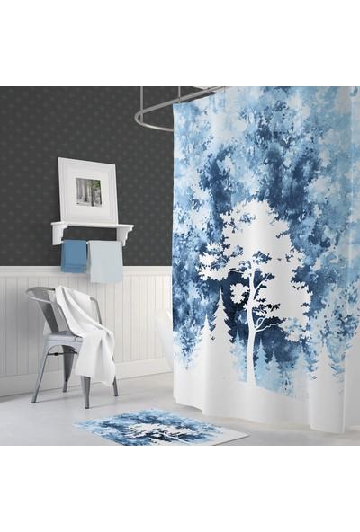 Zethome Tropik Tree Banyo Duş Perdesi Tek Kanat 1 x 180 x 200 cm