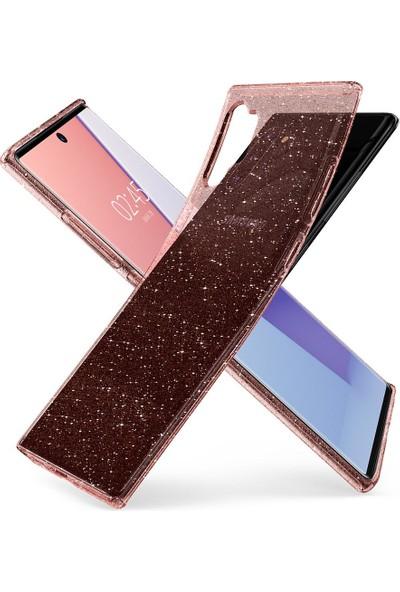 Spigen Samsung Galaxy Note 10 Plus Kılıf Liquid Crystal Glitter Rose Quartz - 627CS27329
