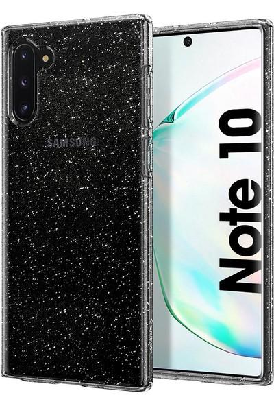 Spigen Liquid Crystal Glitter Designed for Samsung Galaxy Note 10 (2019) Kılıf Crystal Quartz - 628CS27371