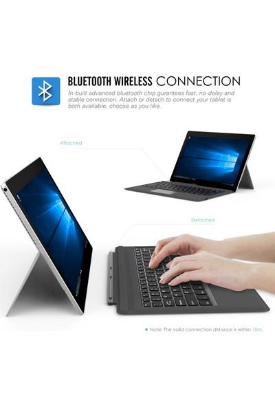 Moko Microsoft Ultra-Slim Wireless Bluetooth Keyboard - Siyah