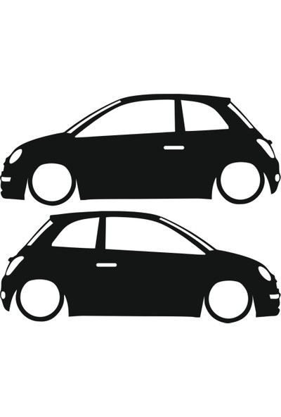 Hediyelikevi Fiat 500 Basık Arac Sticker