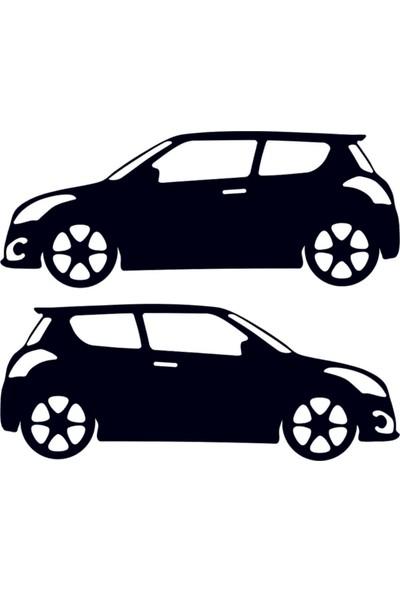 Hediyelikevi Suzuki Swift Basık Arac Sticker
