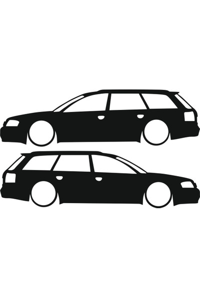 Hediyelikevi Audi A6 Sw Basık Arac Sticker