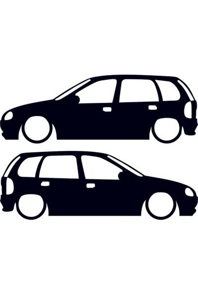 Hediyelikevi Opel Corsa B 2 Basık Arac Sticker