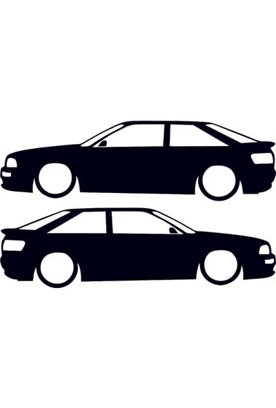 Hediyelikevi Audi 80 Basık Arac Sticker