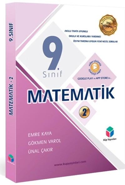 KÜP YAYINLARI - 9. SINIF MATEMATİK - 2