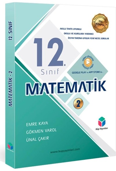KÜP YAYINLARI - 12. SINIF MATEMATİK - 2