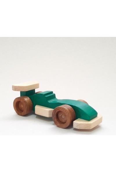 İcat Çıkartıyoruz Formula 1 Ahşap Oyuncak Araba - Yeşil