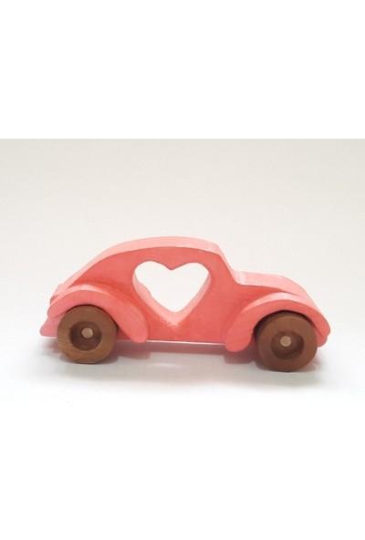 İcat Çıkartıyoruz Woswos Kalpli Ahşap Oyuncak Araba