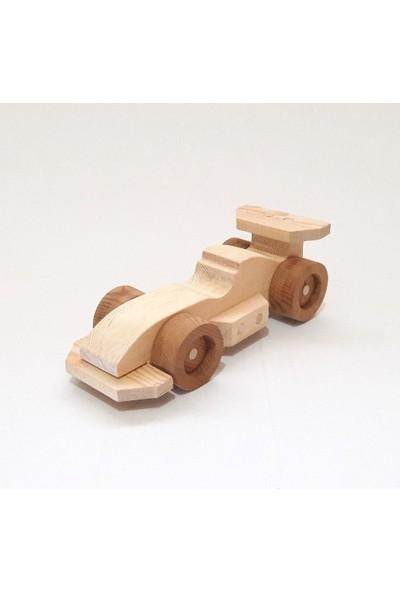 İcat Çıkartıyoruz Formula 1 Oyuncak Araba - Kendin Yap Modeli Ahşap Oyuncak