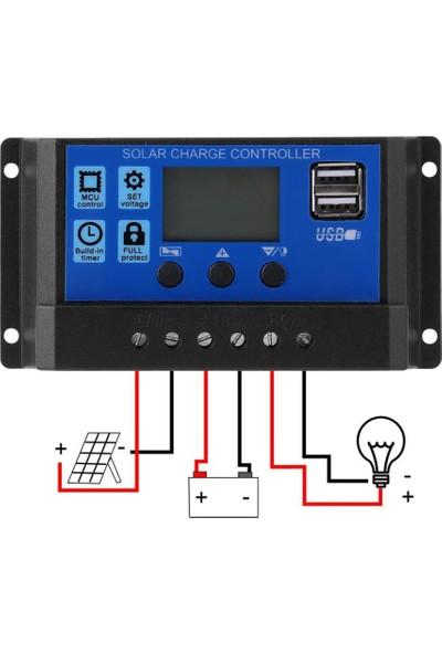 Schulzz Solar Güneş Paneli Akü Şarj Kontrol Regülatörü 12V/24V 60 Amper