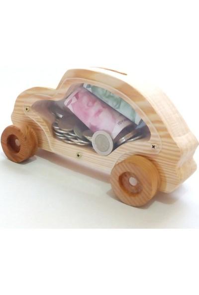 İcat Çıkartıyoruz Ahşap Oyuncak Woswos Araba Kumbara