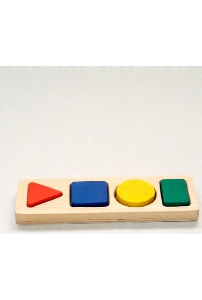 İcat Çıkartıyoruz Bultak Eğitici Ahşap Oyuncak 4'lü - Renkli