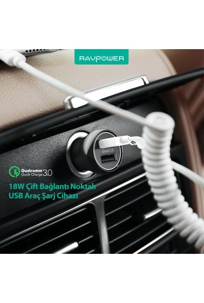 RAVPower RP-PC086 18W Çift Çıkış iSmart Siyah Araç Şarjı, 75-02000-240