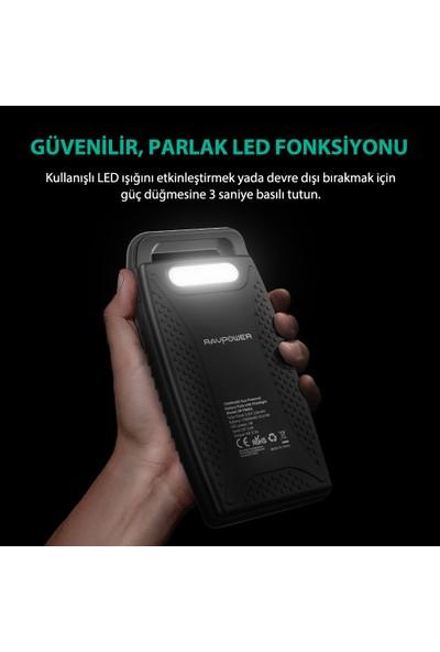 RAVPower RP-PB003 15000mAh IPX4 Outdoor Güneş Enerjili ve Led Işıklı Taşınabilir Şarj Cihazı Powerbank, 65-02000-087