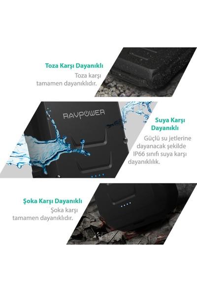 RAVPower RP-PB044 10050mAh Su Geçirmez Taşınabilir Şarj Cihazı Powerbank Siyah, 65-02000-380