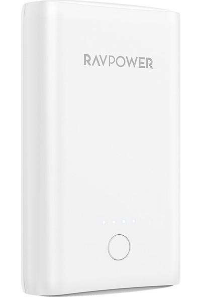 RAVPower RP-PB170 Çift 2.4A Çıkış 10050mAh Taşınabilir Şarj Cihazı Powerbank Beyaz, 65-02000-394