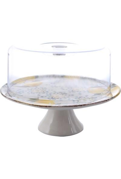 Melly & Merry Ecem Su Ayaklı Kek Fanus 27 cm Amalfi