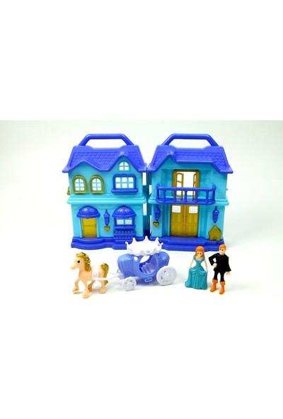 Vardem Kutulu Işıklı Sesli Iki Katlı Aksesuarlı Ev (Mavi)