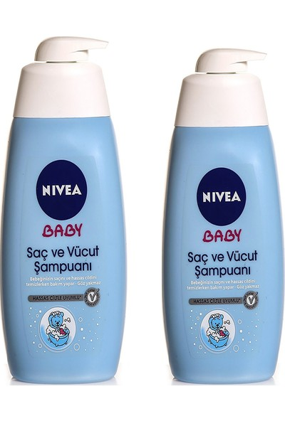 Nivea Baby Saç ve Vücut Şampuanı 500 ml 2 Li Paket