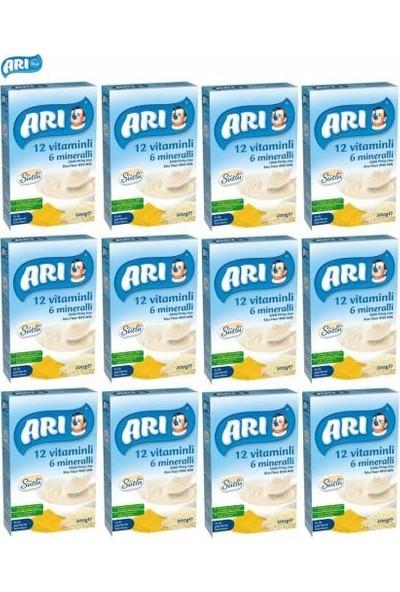 Arı 12 Vitaminli 6 Mineralli Sütlü Pirinç Unu Bebek Maması 250 gr 12 Li Ekonomik Koli