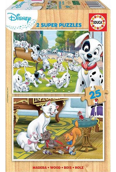 Educa Disney Animals 2X25 Ahşap Çocuk Puzzle