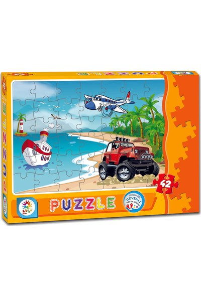 Laço Sahil Taşıtlar 42 Parça Puzzle