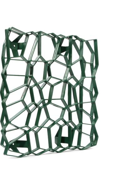 Ekoplas Ivy Wall x Plus Tırmanıcı Bitkiler Için Duvar Bitkilendirme Izgarası 50 x 50 cm Yeşil Renk 8'li