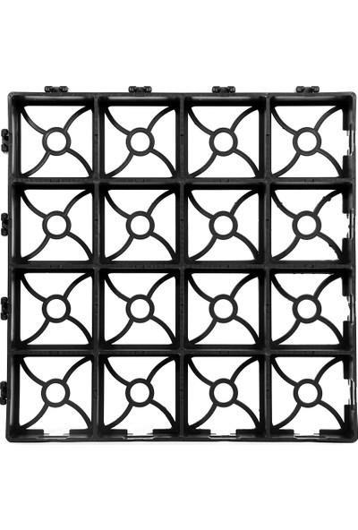 Ekoplas Grass Cell GP40 Çim Altı Kök Koruma ve Toprak Stabilizasyon Izgarası Siyah 38 x 38 cm 8'li 1 m2