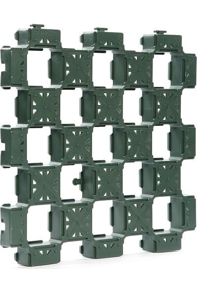 Ekoplas Grass Block GP35 Hazır Çimin Üzerine Döşenebilen Zemin Izgarası 33 x 33 cm Yeşil 9'lu 1 m2