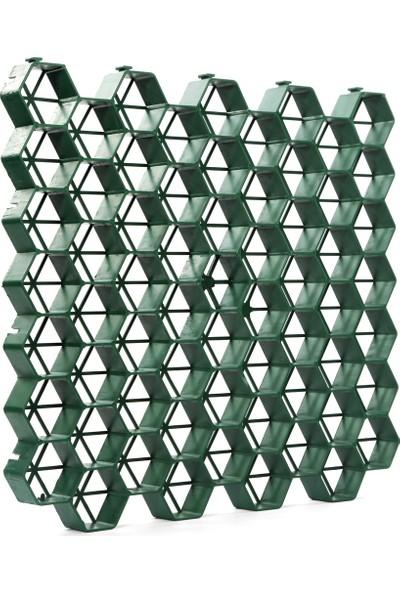 Ekoplas Eko Çim Altı Kök Koruma ve Toprak Stabilizasyon Izgarası Yeşil 51 x 48 cm 4'lü 1 m2