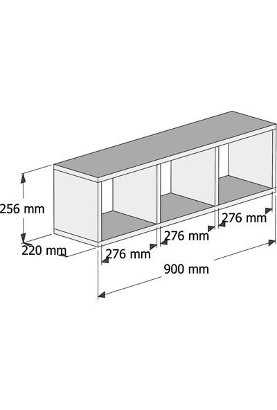 Bimossa Reyhan Çalışma Masası Rafı Beyaz X1040