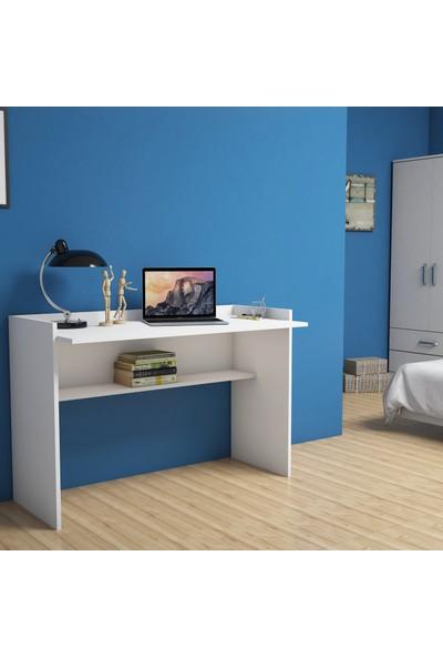 Bimossa Nazende Beyaz Çalışma Masası 118 cm S6040