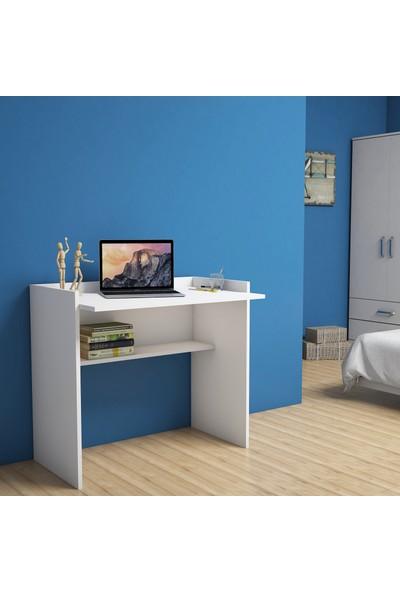 Bimossa Mehpare Beyaz Çalışma Masası 90 cm S1040