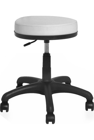 Seduna Mint Tabure Beyaz - Bar Sandalyesi - Ofis Çalışma Koltuğu