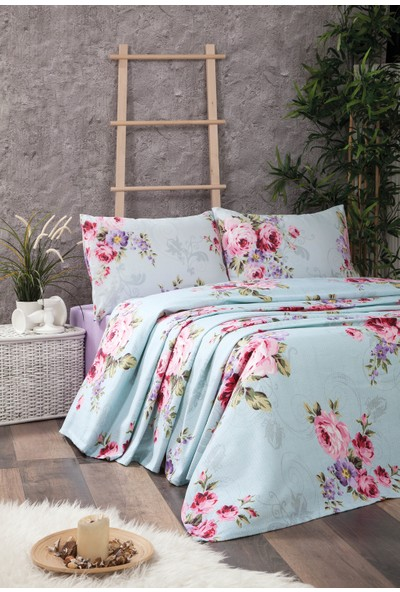 Jolly Home Tek Kişilik Pamuk Pike Rose Aqua