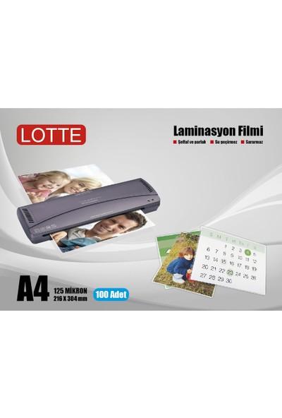 Lotte Laminasyon Filmi A4 125 Mikron 100'lü Kutu