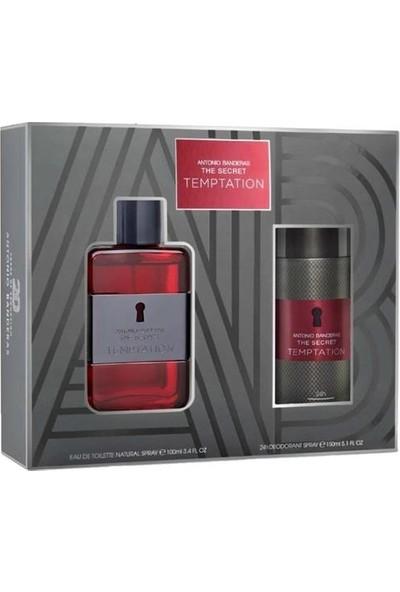 Antonio Banderas The Secret Temptation Edt 100 ml Erkek Parfüm Seti