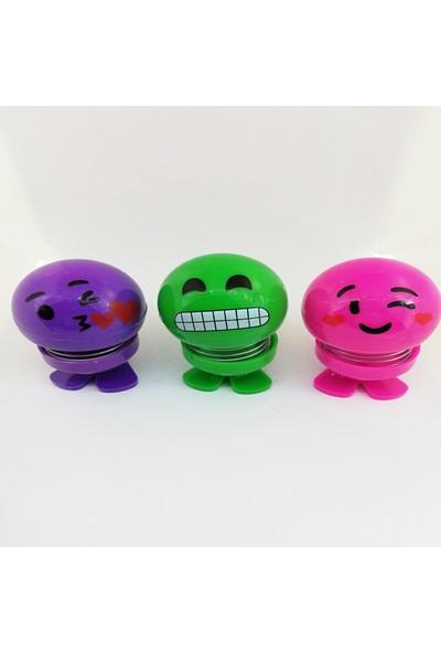 Çılgın Kafalar Sallanan Emoji Kafalar Zıpzıp Kafalar Sallanan Kafalar 3 Adet