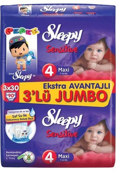 Sleepy Bebek Bezi 4 No 3'lü Jumbo 90'lı