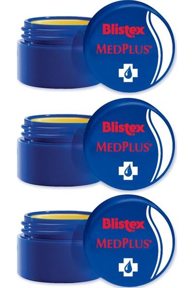 Blistex 3 x Kuruyan Ve Çatlayan Dudaklara Yoğun Bakım (kavanoz) Medplus Jar 7 ml