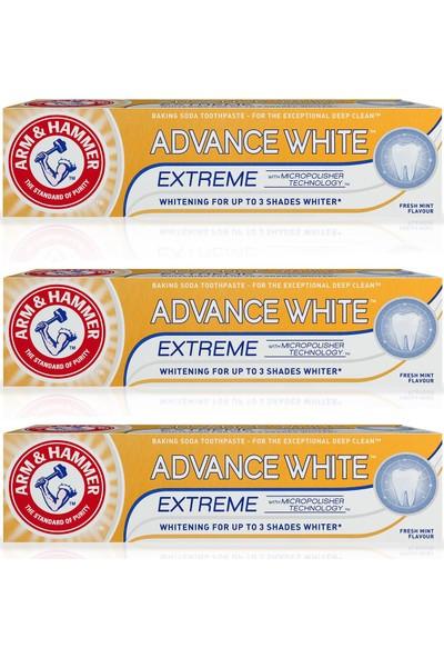 Arm Hammer 3 x 3 Tona Kadar Beyazlatıcı Diş Macunu - Advance White 75 ml
